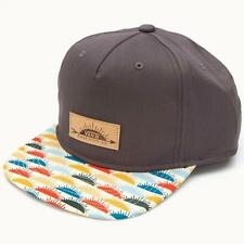354cbf0229c Vans Off The Wall Sunland Mens Grey Cotton Snapback Unstructured Camper Hat  NWT