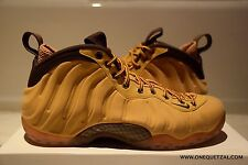NIKE AIR FOAMPOSITE ONE WHEAT 8.5 DS galaxy mirror metallic hologram gold