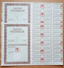 Lot de 2 Actions Très Célèbre Compagnie Petitcollin Baigneurs et Poupées  1962