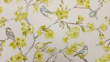 Clarke and Clarke Birdies Citrus Designer Curtain Upholstery Craft Fabric