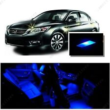 For Honda Accord 2003-2012 Blue LED Interior Kit + Blue License Light LED