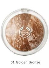 The Body Shop Baked-to-Last Bronzer Shade 01 Golden Bronze NEW Full Size