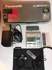 Panasonic SJ-MR100-S Silver minidisc Recorder Player Complete With Original box