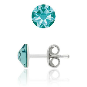 Sterling Silver Stud Earrings made with 2088 6.4mm Swarovski® Crystals
