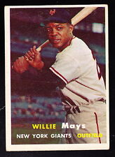 1957 TOPPS #10 WILLIE MAYS GIANTS