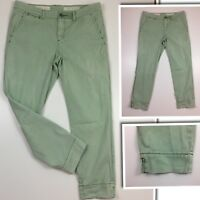 PILCRO & THE LETTERPRESS Anthropologie Womens 27 Lt Green STET Crop Jeans Pants