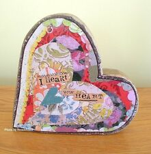 "I HEART YOUR HEART SCULPTURE BY KELLY RAE ROBERTS 8"" x 8"" FREE U.S. SHIPPING"