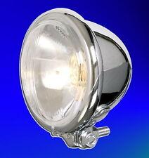 """Hauptscheinwerfer Scheinwerfer Lampe 4 1/2"""" Chrom verchromt Bates Style 12 Volt"""