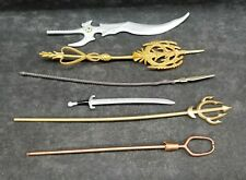 """Marvel Legends Weapon accessory lot 6""""inch scale swords/ spears"""