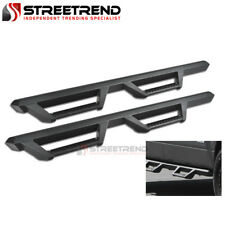 For 07-17 Jeep Wrangler 4Dr Jk Matte Blk Hoop Drop Step Side Bars Running Boards
