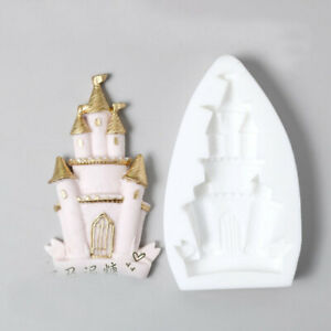 Castle Fairy Tale Silicone Fondant Mould Cake Topper Baking Mold Chocolate Decor