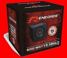 "RENEGADE RXV1200  12"" 30cm Bassreflex Subwoofer Bass Kiste / Auto Subwoofer Box"