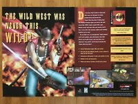 Rising Zan: The Samurai Gunman PS1 Playstation 1 1998 Vintage Poster Ad Art Rare