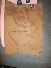 "NEW George MENS STRETCH FLAT FRONT SHORTS 10"" Inseam Above Knee NWT"