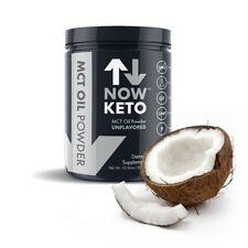 NowKeto Pure MCT Oil Powder - Medium Chain Triglyceride - ZERO Carbs - Ketogenic