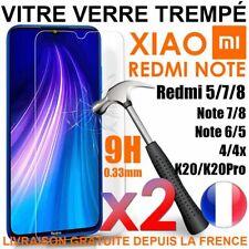 Vitre Film Protection Verre Trempe Xiaomi Redmi Note 8 Pro/8T/Note 7/5/Prime/4X