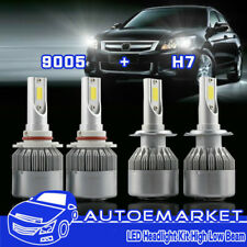 For Lincoln Town Car 9005 H7 LED High Low Beam Combo Headlight 400W 40000LM 4X