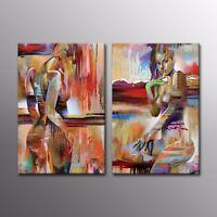 HD Canvas Print Body Art Oil Painting Art Picture Dancer Home Decor 2pc-No Frame