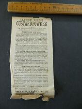 More details for alfred bird's custard powder recipe sheet devonshire works birmingham