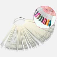 50Pcs False Nail Art Polish Tips Buckle Ring Fan Board Design Practice Display