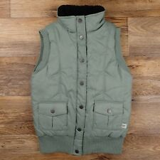 CAT Caterpillar Women's Light Green Quilted Nylon Insulated Vest Size Small $59