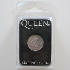 QUEEN : Brian May 2004 We Will Rock You Las Vegas Sixpence Coin Guitar Plectrum