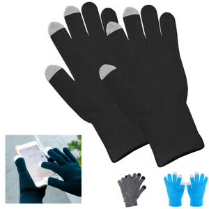 Gloves Touch Screen Capacitive Sensors Winter Smartphone Tablet Adult 3263