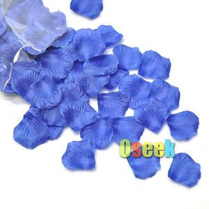 New Royal blue Silk Rose Petals Confetti Artificial Flower Wedding Party Decor
