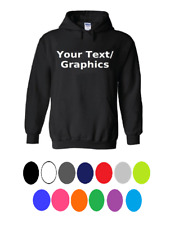 Your Text Customized Mens Youth Pullover Hooded Sweatshirt Hoodie Solid Pockets