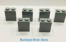 Lego Light Bluish GRAY 1x2x2 Brick - Lot of 5 87818439 8144 4766 10174 7097 5378