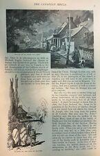 1882 Village of La Bonne Ste. Anne Quebec Canada Mount Ste. Anne illustrated