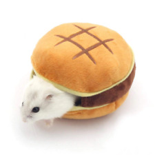 Hamster Cotton Cage Burger Shaped Small Animal Portable Hang Warm Nest Pet Bed