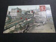 CPA 75, PARIS, LA RUE LECOURBE, animé, paillette, chevaux, attelage , VF PC