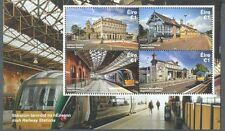 Ireland-Irish Railway Stations- 2017 min sheet mnh Trains-Railways
