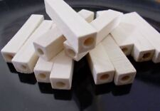 100pcs 50mm x10mm WOODEN Long Cuboid Square Cylinder Beads Unpainted Natural B19