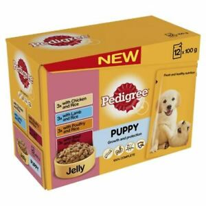 Pedigree Wet Dog Food for Young Dogs Puppies Mixed Selection in Jelly 12x100g