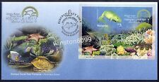 2001 Malaysia Marine Life Stamp Week imperf MS FDC Bukit Jalil Exhibition, offer
