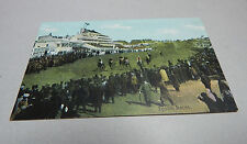 vintage postcard epsom races unposted  art