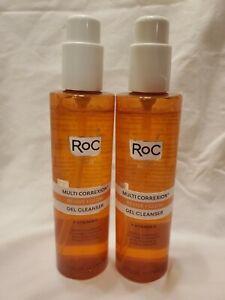 Lot of 2 ROC MULTI CORREXION  REVIVE + GLOW GEL CLEANSER + Vit C 6 fl oz 177 ml