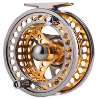 Aluminum Fly Fishing Reel 5/6WT CNC Machined Salmon Fly Fishing Reels Gold Color