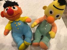 Beddie Bye Bert and Ernie Rare Vintage Playskool Stuffed Sesame Street Plush