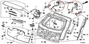 Acura TSX Rear Left and Right Tailgate Hinges (68260TL4G01ZZ and 68210TL4G01ZZ)