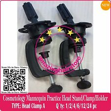 2PCS MANIKIN HOLDER COSMETOLOGY MANNEQUIN HEAD WIG HOLDER STAND DESK TABLE CLAMP