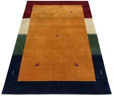 Handloom Gabbeh 140x200 cm Handgewebt Teppich 100% Wolle Lori Buff Debbich