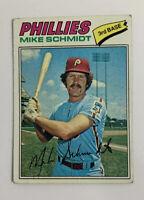 1977 Mike Schmidt # 140 Topps Baseball Card Philadelphia Phillies HOF