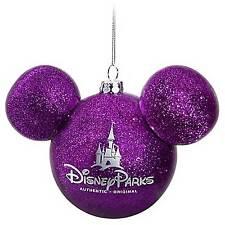 Disney Store Purple Mickey Icon Christmas Ornament - NEW -