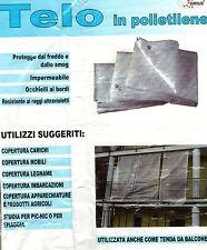 TELO OCCHIELLATO BIANCO CON RETINATURA MT. 3x5-TENDA DA BALCONE