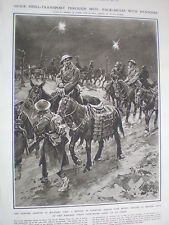 British army mule pannier adapted for artillery shells 1917 old print WW1