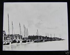 Glass Magic lantern slide Amara C1900 Possibly Greece - Fishing Harbour