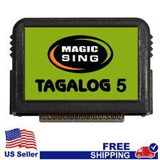 """MAGIC SING Chip """"Tagalog 5""""  - Tagalog & English Song Chip w/ SONG LIST"""